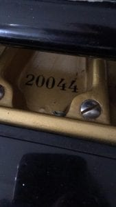 Gjutjärnsramens serienummer