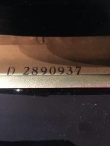 Serienummer Yamaha
